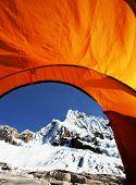 tent in the Cordilleras mountain