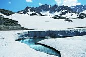 Glacier in mountain