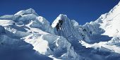 Snow mountain in the Cordilleras