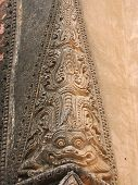 Detail Of Paya Architecture With A Dragon, Bagan, Myanmar