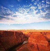 Colorado  canyon at dusk