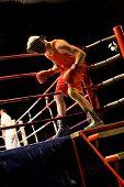 Boxer Entering Boxing Ring