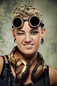 Attractive steam punk girl