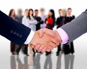 handshake and businessteam