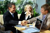 image of business meetings  - Business people shaking hands - JPG