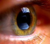 Reflection laptop in an eye