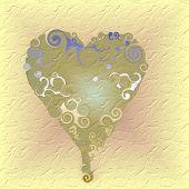 Floating heart on beige