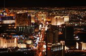 foto of las vegas casino  - Las Vegas skyline at night looking down the Strip