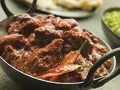 picture of ghee  - Meat Phall in Karahi with Naan and Green Chilli Curry - JPG