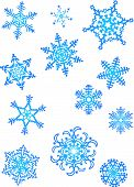 Schnee-Flocken