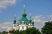 The dome of St. Andrew's Church Cathedral in Kiev. Ukraine.