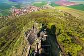 Hazmburk Is A Remarkable Ruin Of A Gothic Castle Near Klapy Village. The Ruins Are Protected As A Cu poster