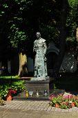Statue Of Antoni Rewera In Sandomierz, Poland.
