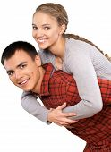 Young Couple Hugging Young Adult Couple Love Love Romance poster