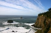 stock photo of mear  - View of the Oregon Coast line - JPG