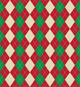 Christmas themed argyle pattern - seamless tile
