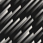 Abstract Geometric Seamless Pattern With Diagonal Fading Lines, Tracks, Halftone Stripes. Extreme Sp poster