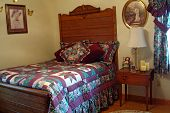 Bedroom With Antique Bed