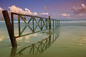 Gate to the sea in Laganas on Zakynthos island Greece