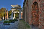 September 2011:medieval gate and drawbridge, Zierikzee, Schouwen Duiveland Zeeland, The Netherlands
