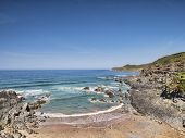 Combesgate Beach, Woolacombe, North Devon, England, Uk, On One Of The Hottest Days Of The Year. poster