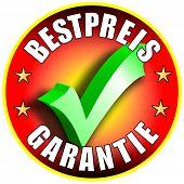 Best Preis Garantie/Schaltflächenbezeichnung, deutsche Version Bestpreis Garantie rot