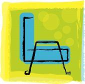 Blue Chair.Eps