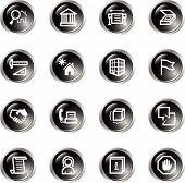 Black Drop Building Icons