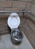 Modern Toilet With Mud Brick Wall2