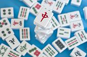 Stapel Mahjong tegels
