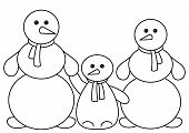Schneebälle Familie, Konturen