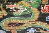 Rare Antique Painting Of A Dragon