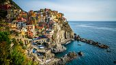 Manarola Village, Cinque Terre Coast Of Italy. Manarola Is A Beautiful Small Town In The Province Of poster