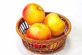 Basket Of Red Delicious Apples