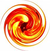 Glass Spiral - Orange