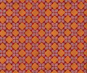 Cloth, Orange Diamond-Checker Pattern