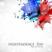 Abstract grungy background in American Flag color for 4th of July American Independence Day and othe