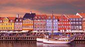 Colorful Buildings Of Nyhavn In Copenhagen, Denmark poster