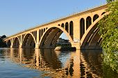 picture of rosslyn  - Key Bridge in Washington DC - JPG
