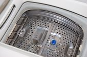 picture of washing-machine  - Details interior view of a Washing machine - JPG
