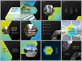 Minimal Brochure Templates With Hexagonal Design Background, Hexagon Style Pattern. Covers Design Te poster