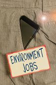 Handwriting Text Writing Environment Jobs. Concept Meaning Jobs That Contribute To Preserve Or Resto poster