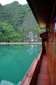 View From A Junk Boat In Ha Long Bay