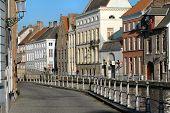 Buildings Along Canal In Brugges, Belgium