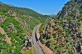 Una vista del cañón de Despenaperros, en España