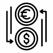 Money Exchange Icon. Outline Money Exchange Vector Icon For Web Design Isolated On White Background poster