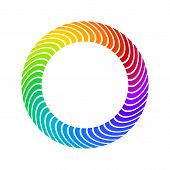Full Spectrum Color Twirled Lines That Makes A Round Frame. Suitable For Logo, Product Branding Or O poster