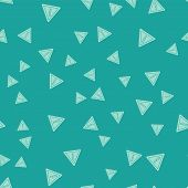 Green Exclamation Mark In Triangle Icon Isolated Seamless Pattern On Green Background. Hazard Warnin poster