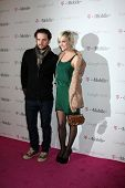 LOS ANGELES - NOV 16:  Vincent Piazza, Ashlee Simpson arrives at the Google Music Launch at Mr. Brai