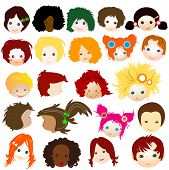 picture of cartoon people  - children faces - JPG